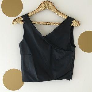 ZARA Faux Leather Crop Top