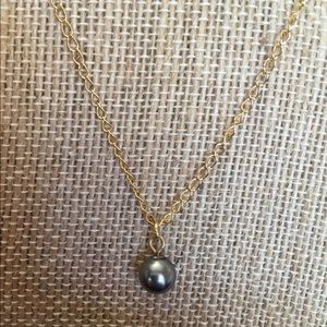 BCBGeneration Jewelry - BCBG Black Pearl & Gold Necklace NWT