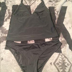 Express Other - Cute black Express tankini swim suit.
