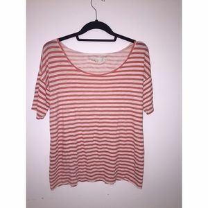 Red/Orange & White Striped Madewell Tshirt