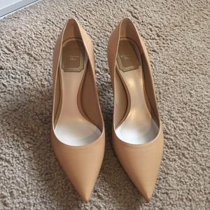Christian Dior nude pumps