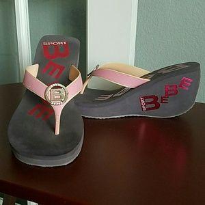 84 bebe shoes bebe sport wedge sandals black and
