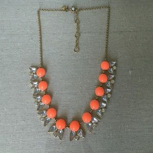 J.Crew coral statement necklace