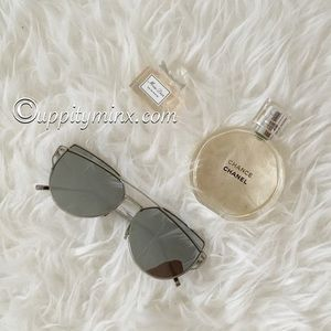 🆕 Silver Metal Mirrored Sunglasses