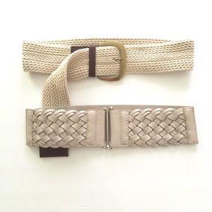 Accessories - LIKE NEW Wide Light Belts (Set of 2)