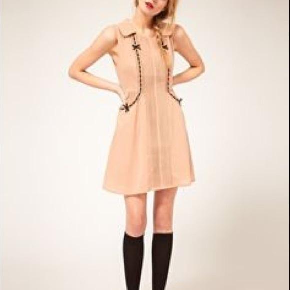 8cd12740a25 ASOS Dresses   Skirts - ASOS Darling Bow Pintuck Dress XS