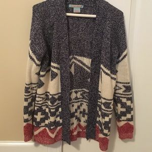 Flying Tomato Sweaters - Aztec print sweater
