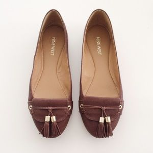 Nine West Brown Tassel Flats.