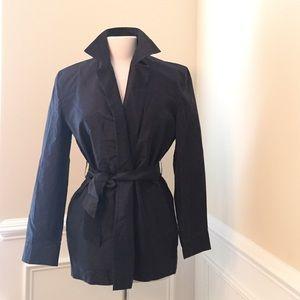 Donna Karan Shantung Boxy Kimono Jacket