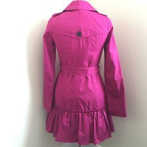 BB Dakota Jackets & Coats - BB Dakota pink trench ruffle coat.