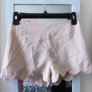 Pants - Tan chiffon shorts
