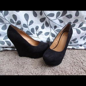 Shoes - Black suede party shoes