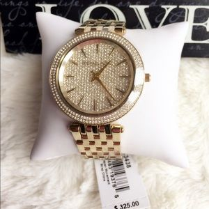 SALE 🎉Michael Kors Darci Gold pave crystals watch
