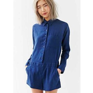 Urban Outfitters Pants - Linen Long Sleeved Romper