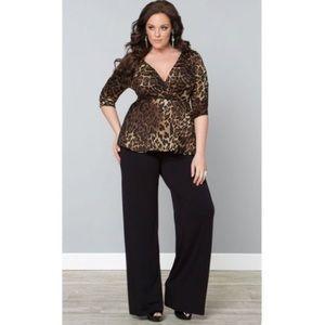 Just My Size Pants - Black Palazzo Pants So Slimming Flattering! 2X 20W