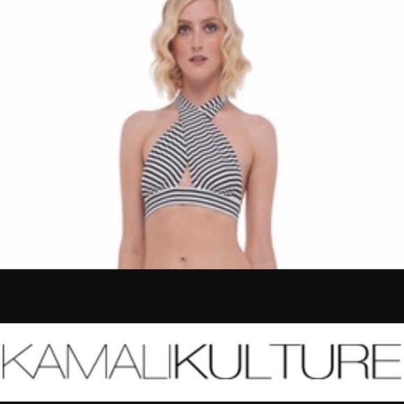 7354872359 Norma Kamali  KamaliKulture Cross Halter Top