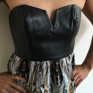 Revolve  Dresses - Revolve Vegan Leather Mixed Print Dess