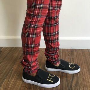 Tripp nyc Pants - Tripp NYC Red Plaid Pants 25