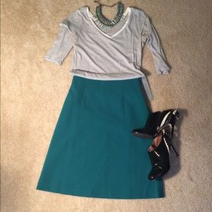 NWT Classiques Entier sea green skirt