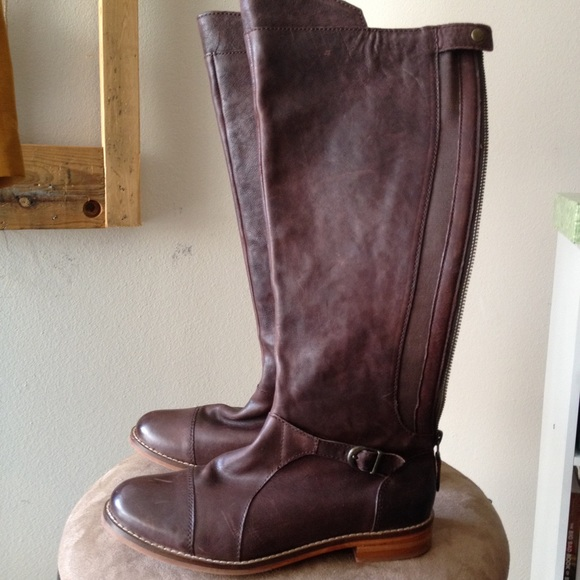 67 j shoes shoes brown leather knee high boots size