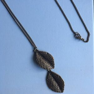 Ganesh Jewelry - Leaves Long Necklace
