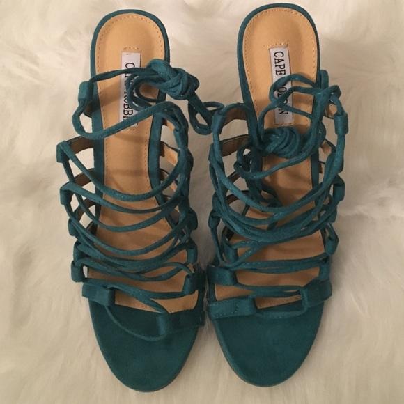 Kimberly Teal Strappy Heels | Poshmark