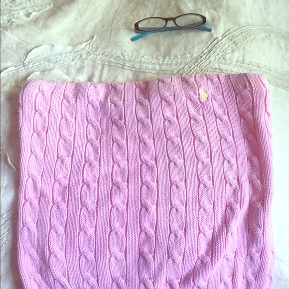 f42334294c7 Polo Ralph Lauren cable knit sweater tube top. M 579d3bcb620ff7547c011883