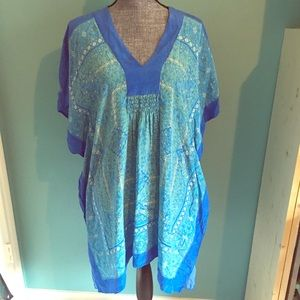 Chico's Tops - Chico's Silk Tunic Bathing Suit Coverup 3 XL 14