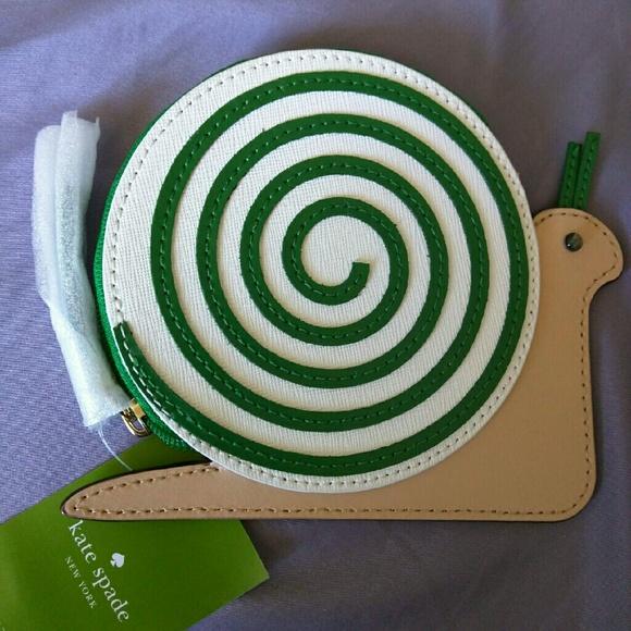 c88bb3da4e60 kate spade Bags | Turn Over A New Leaf Snail Coin Purse | Poshmark