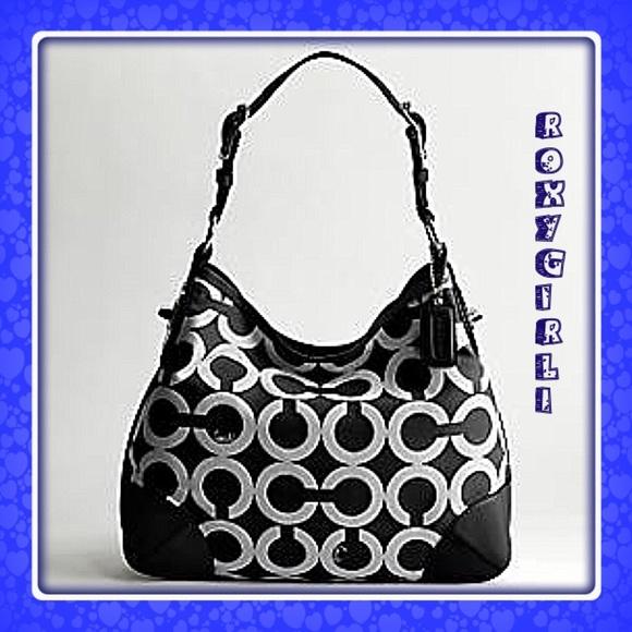 Coach Peyton Op Art Shoulder Bag #14512
