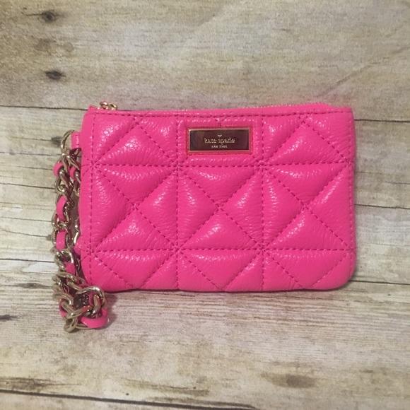 56% off kate spade Handbags - Kate Spade Pink Quilted Wristlet ... : quilted wristlet - Adamdwight.com