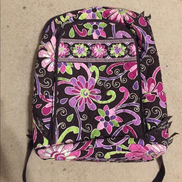 Vera Bradley Bags   Laptop Backpack Large Purple Punch   Poshmark 5976826037