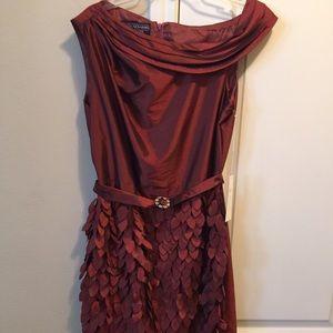 Stacy Adams Dresses & Skirts - Stacy Adams Ladies Dress in Burgundy, Size 8