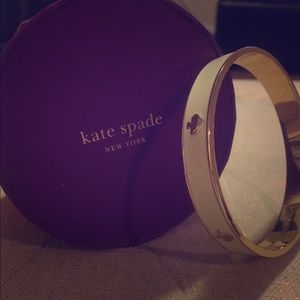 Kate Spade Classic Gold & White Bangle Bracelet