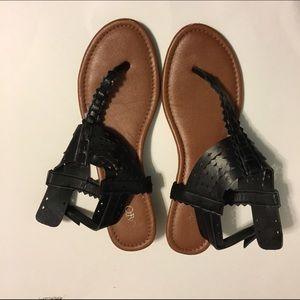 Cato Shoes - Black sandals