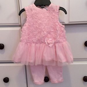 Little Me Other - ✨HOST PICK✨Pink frilly dress w/matching pants