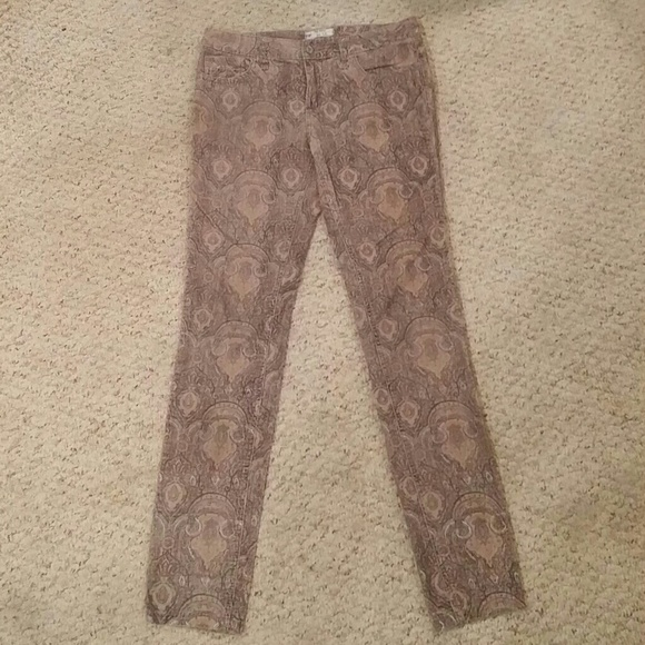 80% off Free People Pants - Free People Paisley Corduroy Pants ...