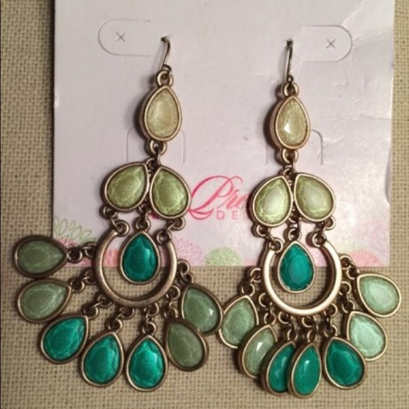 40 off premier designs jewelry minty fresh green gold minty fresh green gold chandelier earrings mozeypictures Choice Image
