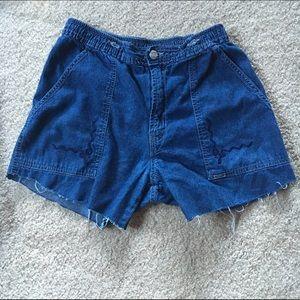Shorts, High Waisted Vintage Cut-Offs