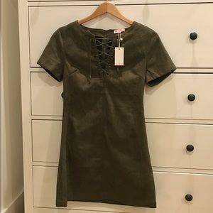 Brand New Olive Suede Dress