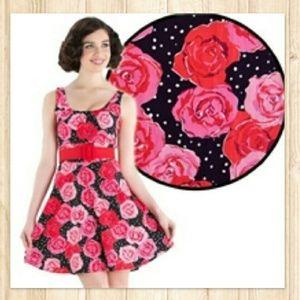 Voodoo Vixen Dresses & Skirts - Voodoo Vixen Erin Rose Mini Dress 🍒🌹