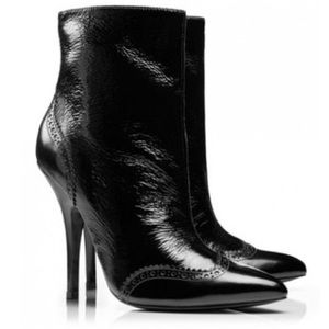 Tory Burch Shoes - Tory Burch black textured patent leather boots