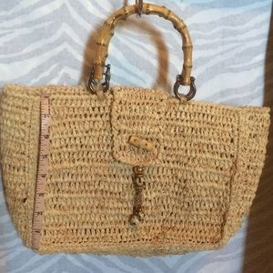 Angela Moore Handbags - Angela Moore straw bag