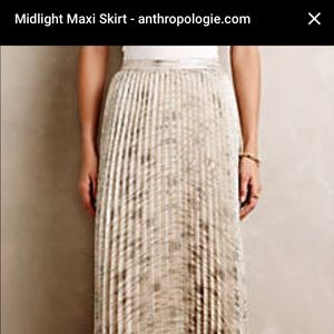 Moulinette Soeurs Skirts Anthropologie Pleated Maxi Skirt Poshmark