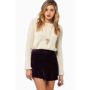 ✨ New Tobi Velvet Mini Skirt ✨