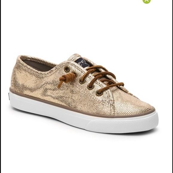 Sperry Shoes | Nwb Gold Sperrys | Poshmark