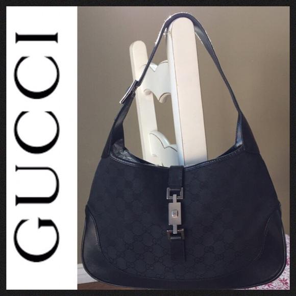 56083f45ab24 Gucci Bags | Authentic Black Jackie O Hobo Bag Euc | Poshmark