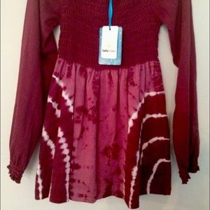 Sally Miller Other - Girls Sally Miller TieDye Wine Color Smocked Dress