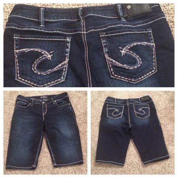 72% off Silver Jeans Pants - Women&39s Silver Jeans Bermudas Size 18