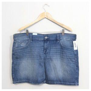 Old Navy Dresses & Skirts - NEW Embroidered Distressed Denim Mini Skirt 16